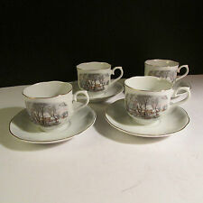 Set of 4 Avon 1977 Cups/Saucers made in Japan