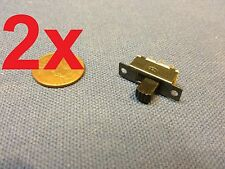 2x - Mini SPDT Slide Switch On-Off PCB 6P 2T 23.3*7.3MM pitch row 19MM toggle c1