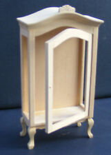 1:12 Scale Natural Finish Display Cabinet Tumdee Dolls House Kitchen Hall 115