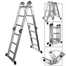 NEW 4.7M ALUMINIUM LADDER FOLDING, MULTI-PURPOSE