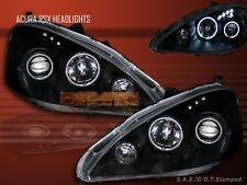 05-06 RSX CCFL Halo BLK Projector Headlights Front Lamp
