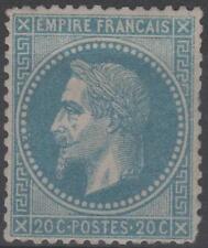 "FRANCE STAMP TIMBRE  N° 29 B  "" NAPOLEON III 20c  BLEU TYPE II "" NEUF xx A VOIR"