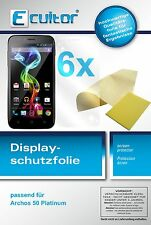 6x Archos 50 Platinum screen protector protection guard crystal clear