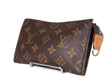 LOUIS VUITTON Monogram Canvas Leather Pouch Accessories Bag LP3835