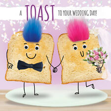 GOGGLIES + REAL FLUFF 3D EYES  A TOAST TO YOUR WEDDING DAY CARD 1STPP