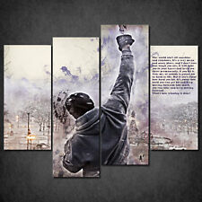 ROCKY BALBOA STALLONE ICONIC FILM QUOTE CASCADE CANVAS PRINT WALL ART READY HANG