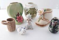 Vintage MCM Miniature Vase Figurine Lot Enesco OPCO Zano Pico Limoge Japan