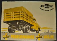 1949-1950 Chevrolet Truck Mailer Brochure Stake Straight Box Excellent Original