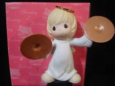 yn Precious Moments-Regular/Large Nativity Addition-Angel/Cymbals