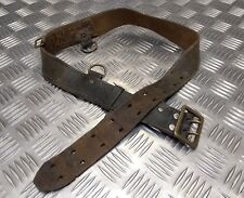 Genuine Vintage Military Issued Leather Sam Browne Belt Without Crossover Strap