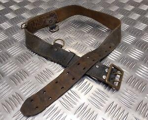 Original Vintage Military Ausgegeben Leder Sam Browne Belt Ohne Crossover Riemen