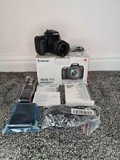 Canon EOS 77D 24.2MP DSLR Camera w/ 18-55mm kit lens boxed UK Model 80d