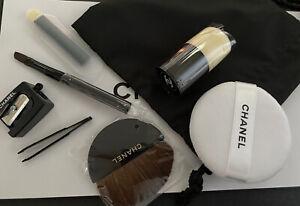 BN CHANEL Travel  Brushes Set: Inc. Kabuki Tweezers Sharpener Powder (no Pouch)
