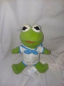 "MUPPET BABIES Vtg 1992 Muppet Show Child Dimension 8"" Plush Stuffed BABY KERMIT"