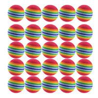 25pcs 42mm Practice Foam Golf Balls Rainbow EVA Foam Golf Indoor Training Aid