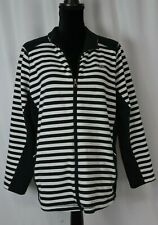 Lauren Active Ralph Lauren Women's Full Zip Jacket Size 2X Cotton Blend Striped