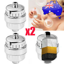 2x CHROME Shower Filter KDF/Carbon | REMOVES CHLORINE for Skin Allergies AU 2018