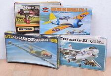 4x Matchbox PK-25/Airfix 02050-1/Heller 201/Revell H-114 Militär-Flugzeuge