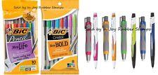 SCHOOL SUPPLIES BIC .7mm Mechanical Pencils Erasers Cristal Xtra Bold Pens