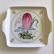 "Villeroy & Boch LE BALLON J Mercier Square Cake Plate with Handles - 8"" Vintage"