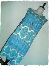 Pinc Bohemian Boho Striped Paisley Pattern W/Necklace A Line Tank Dress 2X