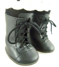 "Black 1800 Boots fits 18"" American Girl Victorian Era Rebecca Doll Clothes"