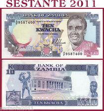ZAMBIA - 10 KWACHA nd 1989  -  Sign 8 Nkhoma  - P 31a - FDS / UNC