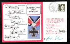 Great Britain Flown Cover Knight's Cross Graf Von Schwerin Signed '87 Insert (