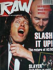RAW MAGAZINE 56 - AC/DC - SLAYER - IRON MAIDEN
