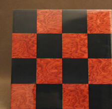 "CHESSBOARD - 15¾"" ~ 2"" SQ's - INLAID RED BRIAR - FRAMELESS STYLE (ww 50400br)"