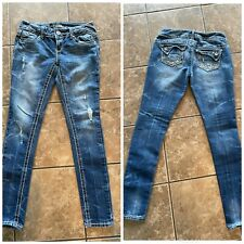 Free Ship! Almost Famous Jeans Size 3 Low Rise Skinny *More Photos*