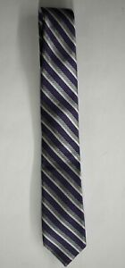 Nordstrom Kids Blue Gray Striped Self Tie-Up Classic Adjustable Neck Tie