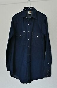 RARE Vintage Genuine Carhartt Denim Western Style Long Sleeve Work Shirt NOS