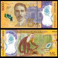 Colones 2007 P Costa Rica 10000 267e UNC Note First Prefix A 10,000