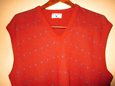 Vintage Robert Bruce Red 100% Orlon Acrylic V-Neck Sweater Vest Size XXLT