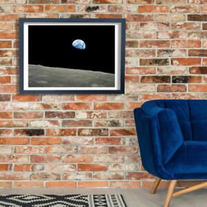 NASA - Apollo 8 Dec 24 Earthrise Wall Art Poster Print