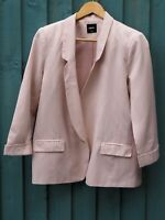 Fantastic OASIS Ladies Pale Pink / Blush Relaxed Fit Blazer / Jacket size UK 12