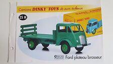 Dinky Toys Atlas - Fascicule SEUL du Ford Plateau Brasseur (Booklet only)