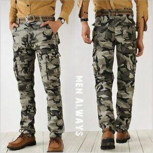 Pantalones de Hombre Estilo Camuflaje Casuales Pantalón Tipo Cargo Militares