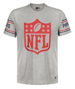 NEW New England Patriots New Era NFL Badge T-Shirt Grey Tee Official Product