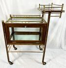 c1910 Ernst Rockhausen Arts Crafts Modernist Mahogany Brass Tea Bar Cart Trolley