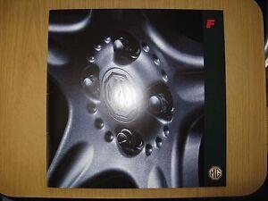 MG MGF CAR BROCHURE 1996 PLUS PRICE LIST X 2 (JAN 1996 / JUNE 1996)