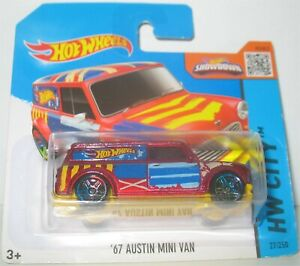 Hot Wheels - 67 Austin Mini Van - Red (2015)