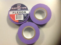 "Purple  Electrical Tape, 20 yds length x 3/4"" Width, Purple (Pack of 3)"
