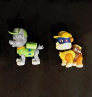 Paw Patrol Action Figure Lot of 2 Figures: Rocky and Rubble