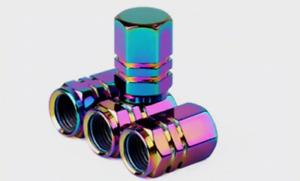 Rainbow Neon 4 x Car Truck Bike Tyre Tire Valve Stem Caps Cover Accessories