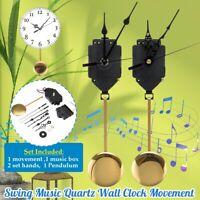 Quartz Pendulum Trigger Clock Movement Chime Music DIY Box Completer Home Office