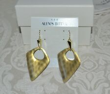 Print Lucite Pyramid Drop Earrings Wow! New $175 Alexis Bittar Gold Snake