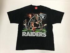 Vintage Liquid Blue Oakland Raiders NFL T-Shirt Graphic Size XL Black