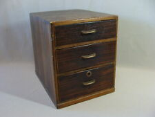 New listing Beautiful Vintage Japanese 3 Drawer Small Size Tansu Chest